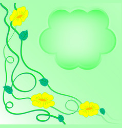 Morning-glory light green vector
