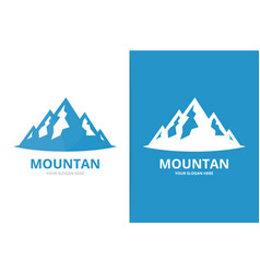 mountain logo combination nature symbol or vector image