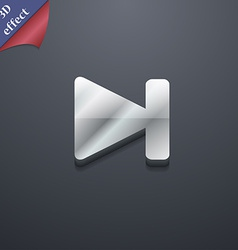 next track icon symbol 3D style Trendy modern vector image