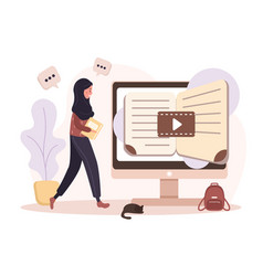 Online education flat design concept training vector