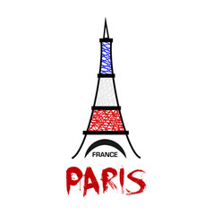 paris france eiffel tower icon vector image