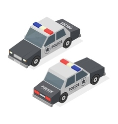 Police Car Isometric View vector