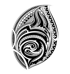 Polynesian ethnic style tattoo vector