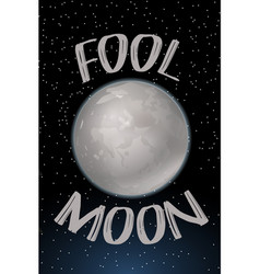 Poster design with fool moon vector