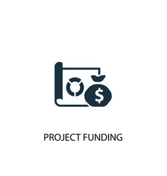 Project funding icon simple element vector