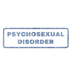 Psychosexual disorder textile stamp vector