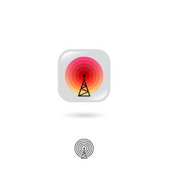 radio tower web icon wireless technology internet vector image