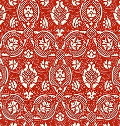 Red lace Seamless abstract floral pattern vector image