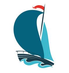 sailing ship design vector image