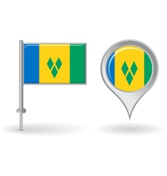 Saint Vincent and the Grenadines pin icon map vector image