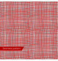 Seamless texture of red canvas vector image vector image