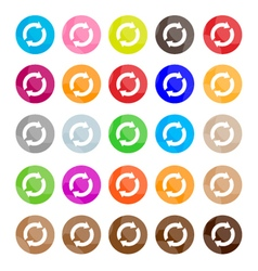 Set of 16 Reset Icons or Refresh Buttons vector