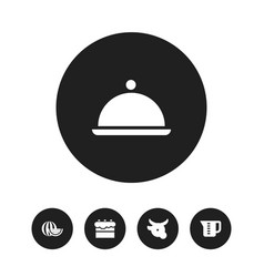Set of 5 editable cooking icons includes symbols vector