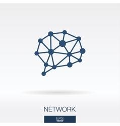 Social media concept icon logo vector image