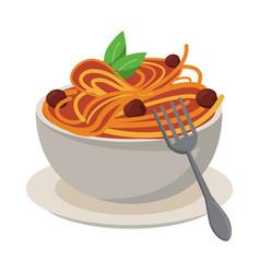Spaghetti italian food vector