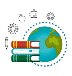 Study books design vector