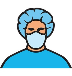 Surgeon icon vector