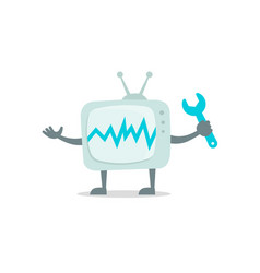 televisor character with face legs and hands vector image