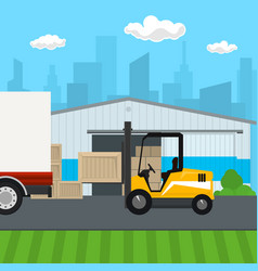 Transportation and cargo services and storage vector