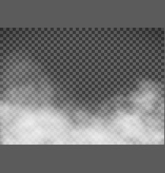 White smoke on a transparent background template vector