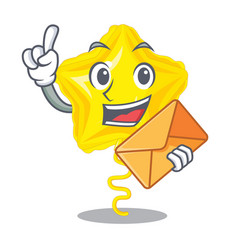 With envelope stars ballon isolated in the vector