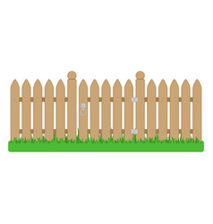 Wooden fence and gate vector