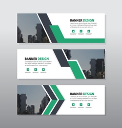Green triangle abstract corporate business banner vector