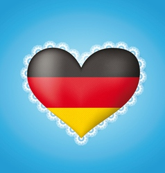 Heart shape flag of Germany vector image vector image