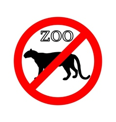 Leopard in zoo prohibited vector image vector image