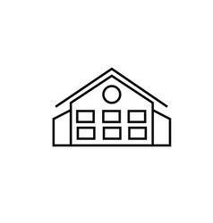 mansion icon vector image