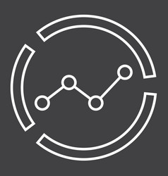Market analysis line icon business and diagram vector