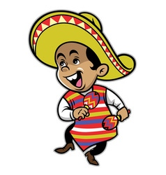 Mexican boy mascot vector image vector image