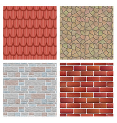 roof tiles of classic texture and detail house vector image