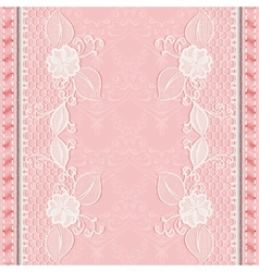 Template greeting or invitation card with lace vector image