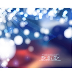 abstract bokeh vision background design v vector image vector image