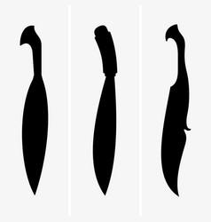 barong knife vector image vector image