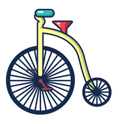 Circus bicycle icon cartoon style vector
