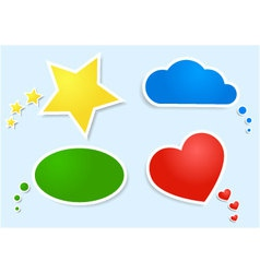 colored clouds and bubbles vector image vector image