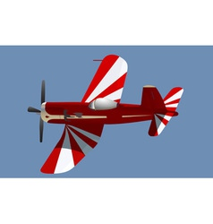 little red propeller plane vector image vector image