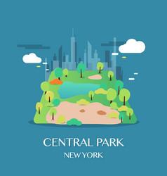 new york landmark central park vector image vector image