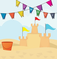 Sand castle vector image vector image