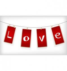 valentine labels vector image vector image