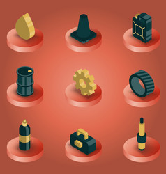 car tuning color isometric icons vector image