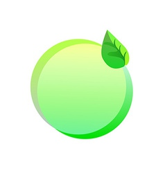 Green eco sticker on a white background vector image