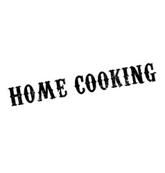 Home cooking rubber stamp vector