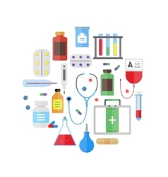 Medical Healthcare Equipment Round Design Template vector image vector image