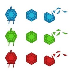 Flat Gemstone vector image