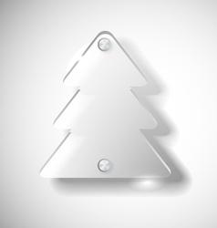 Glass Christmas tree vector image vector image