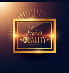 golden super quality label badge design vector image