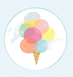 Icecream label design for summer vector image